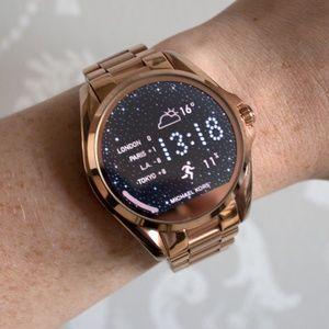 MK michael kors unisex smart watch rose gold